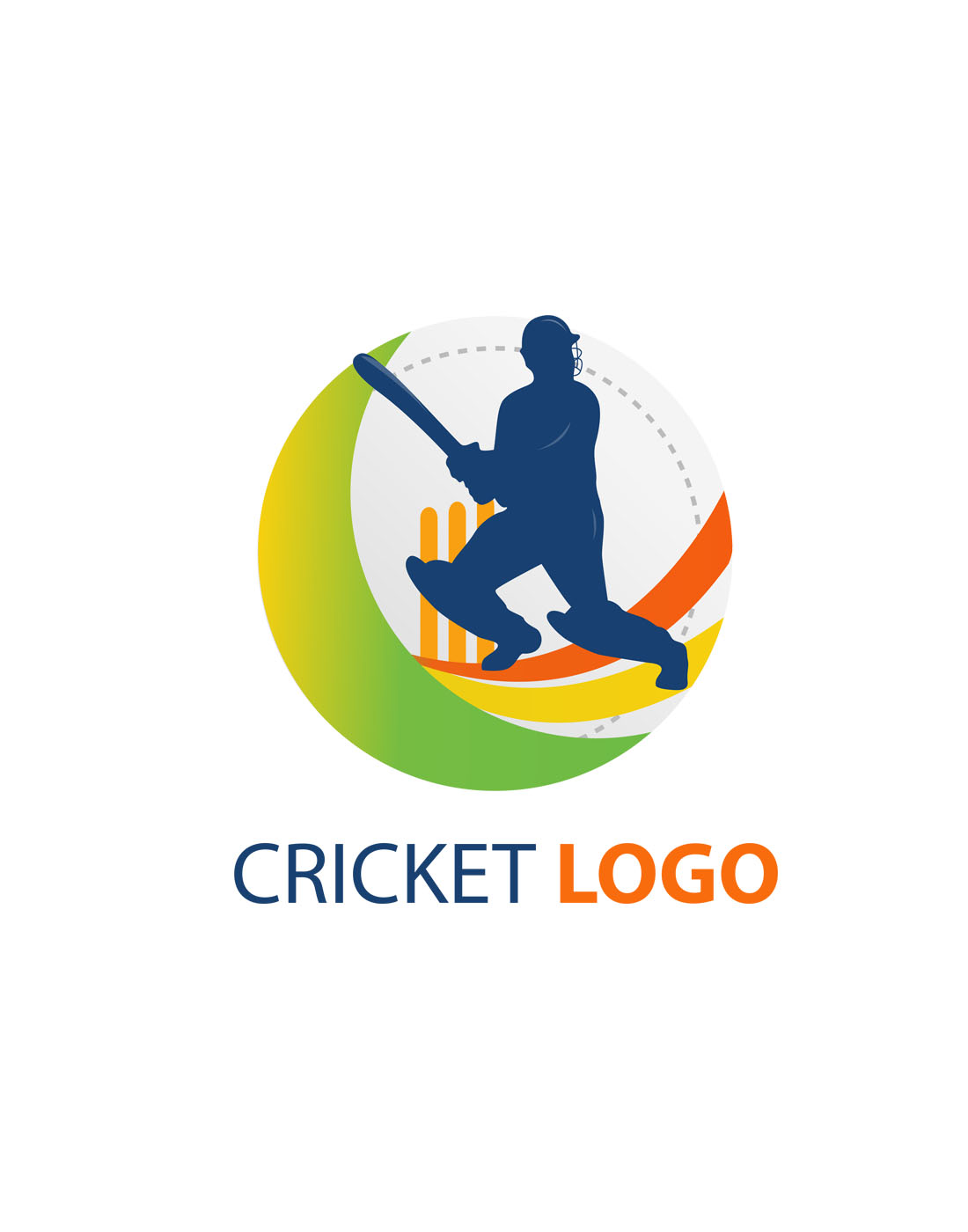 cricket vector logo templates