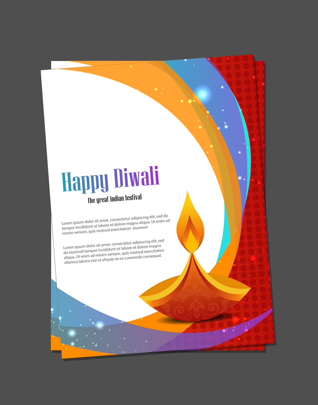 diwali card templates