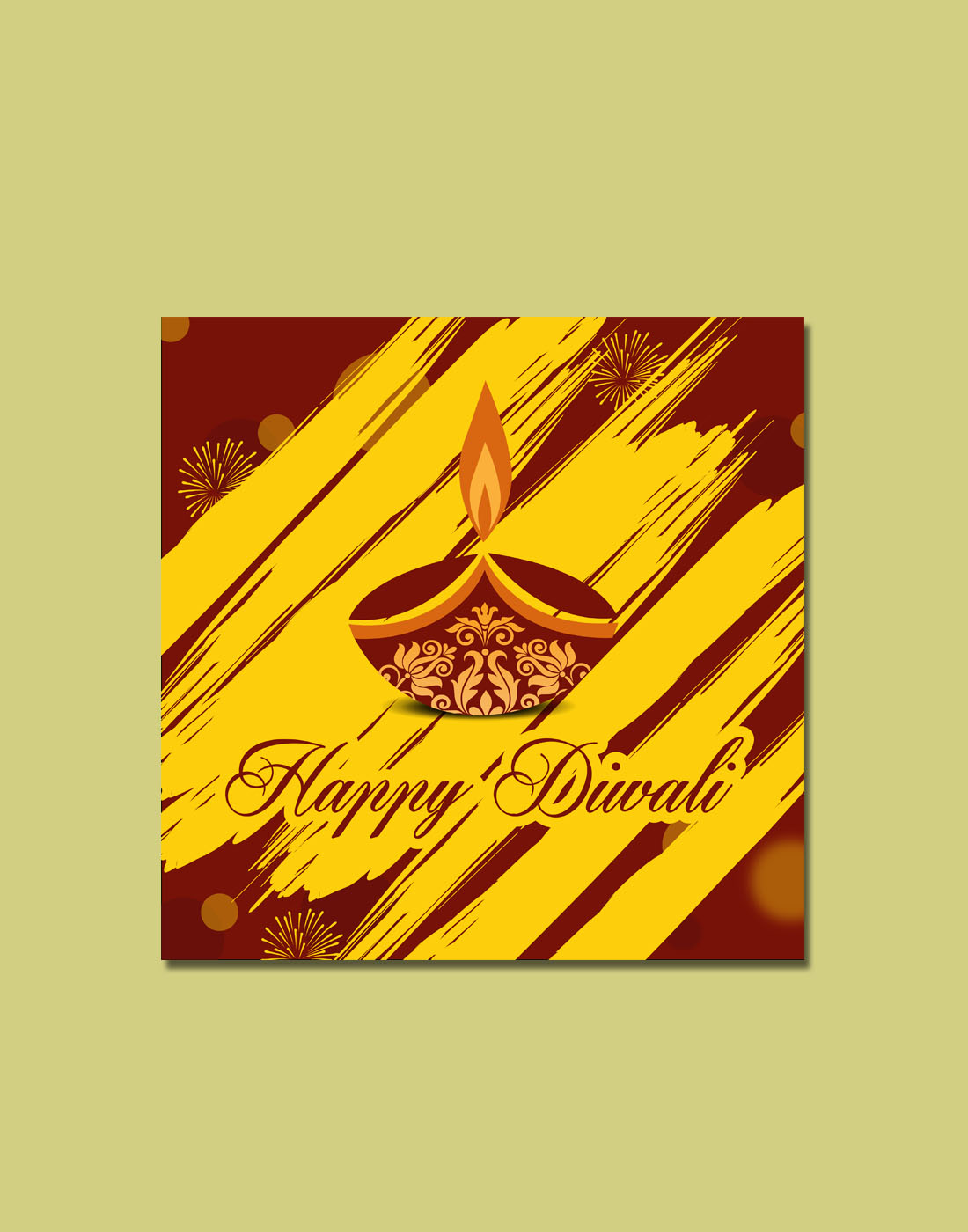 free diwali vector design