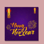 new year psd templates