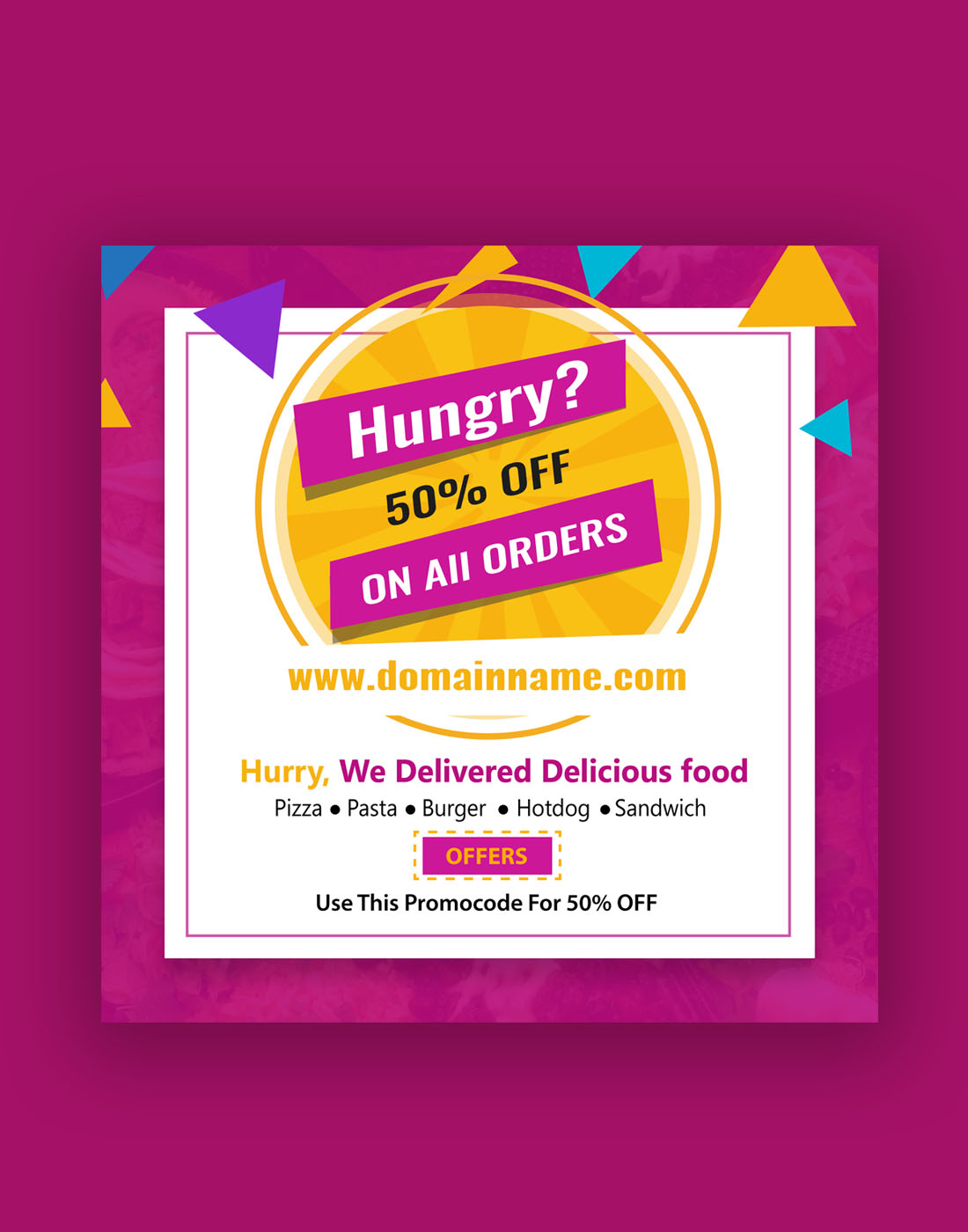 food offer banner templates