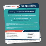 Creative Recruitment Ads PSD template
