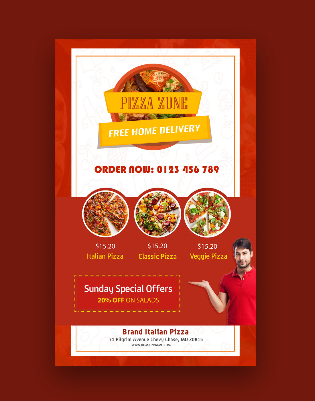 pizza brochure templates