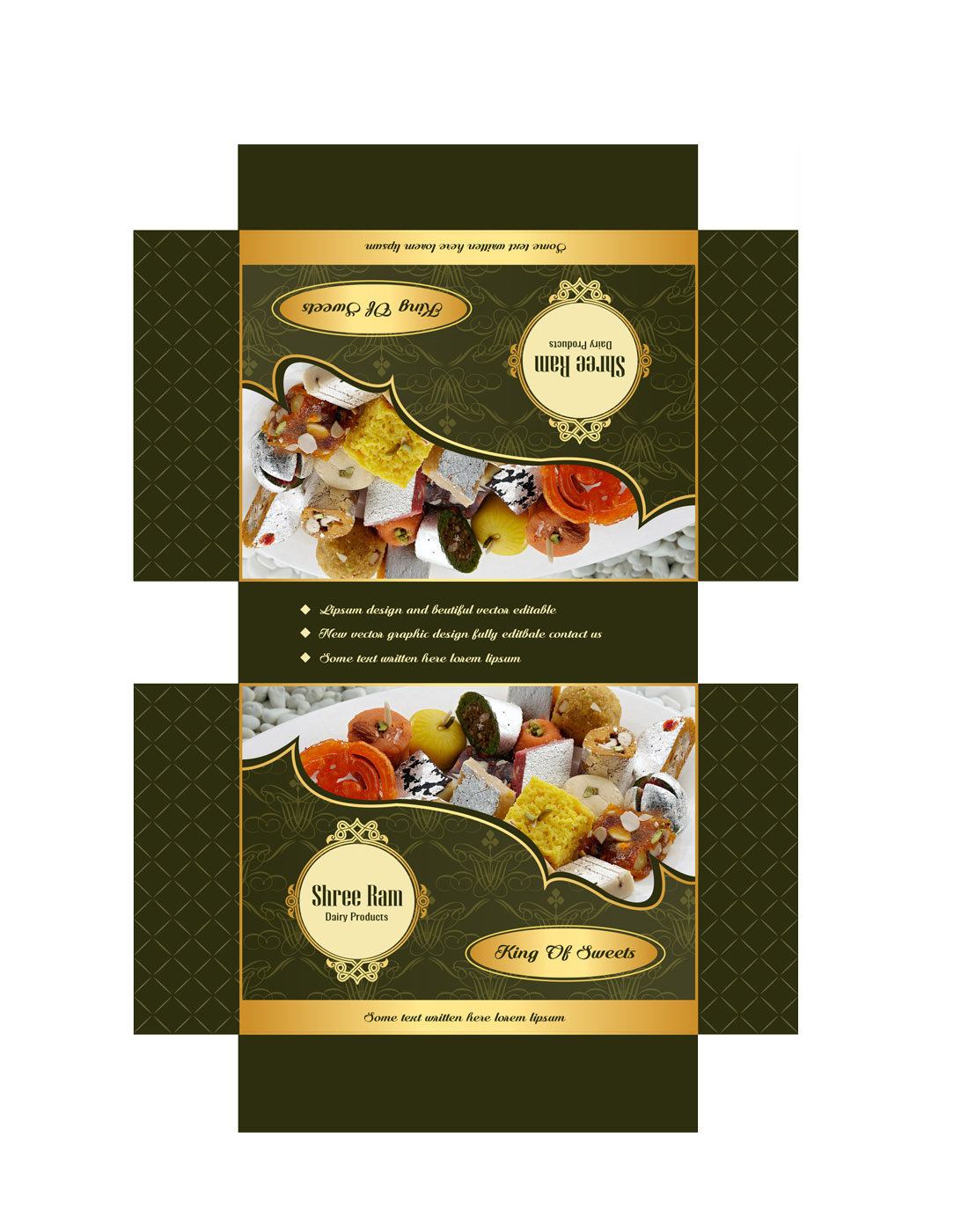 sweets box design templates