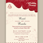 free wedding card psd templates