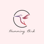 Humming bird logo template