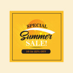 summer sale vector templates