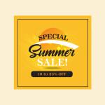summer sale vector templates