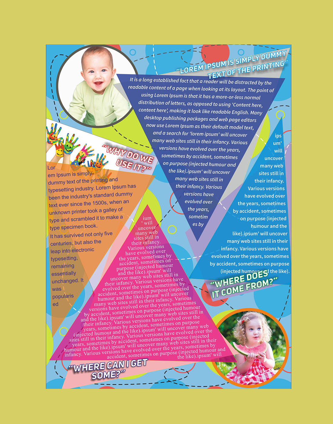 Kids flyer template