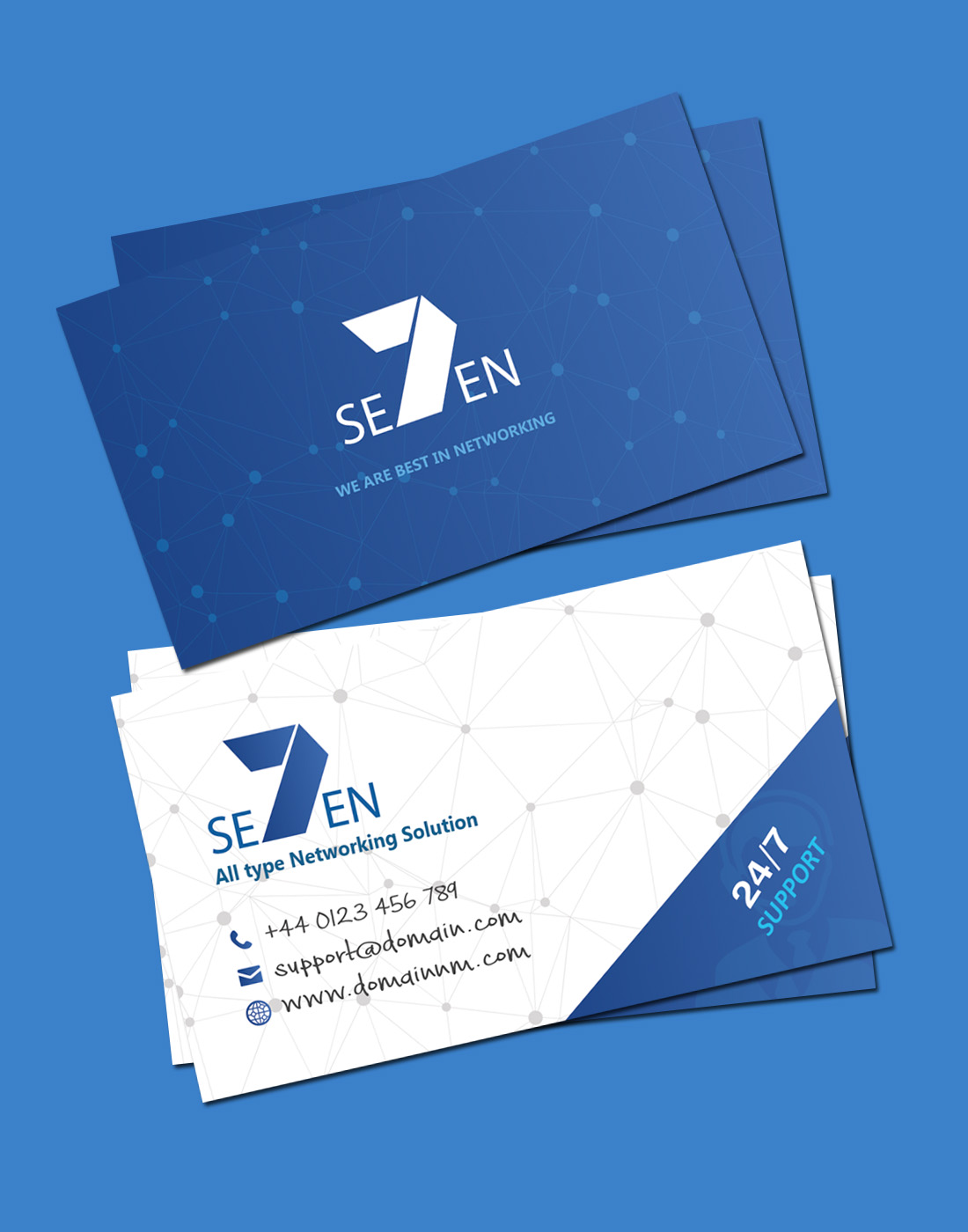 Networking business card template colourmoves