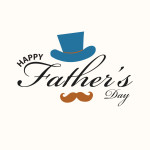 Fathers day vector template
