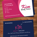 Beauty parlour visiting card template