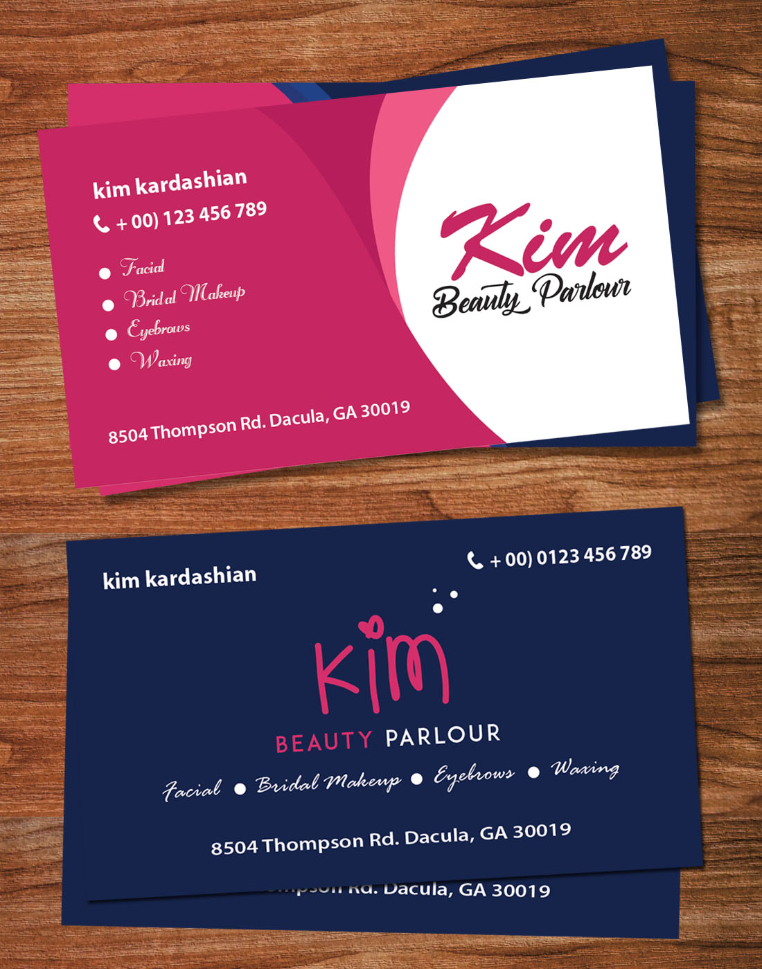 beauty parlour card