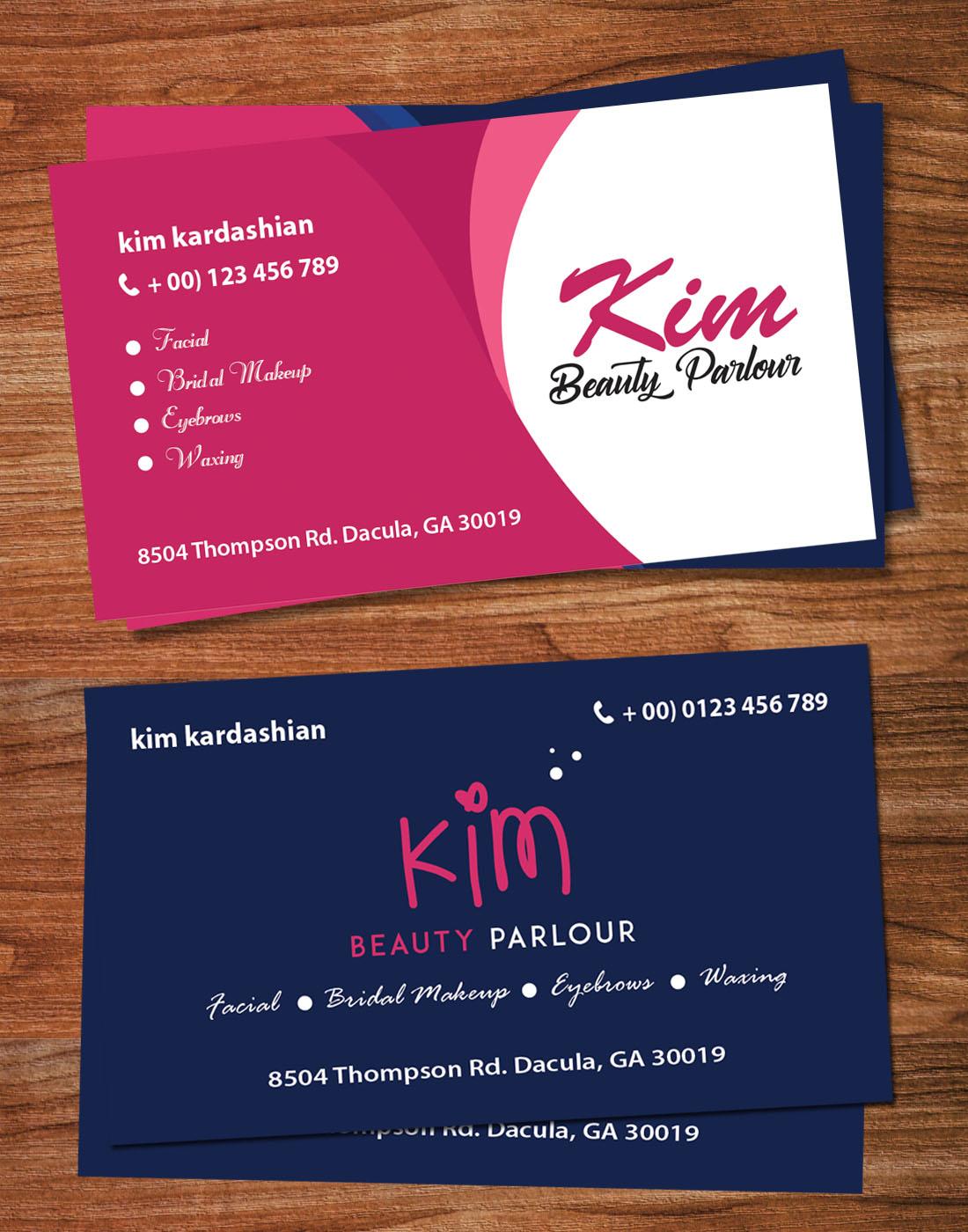 beauty parlour card