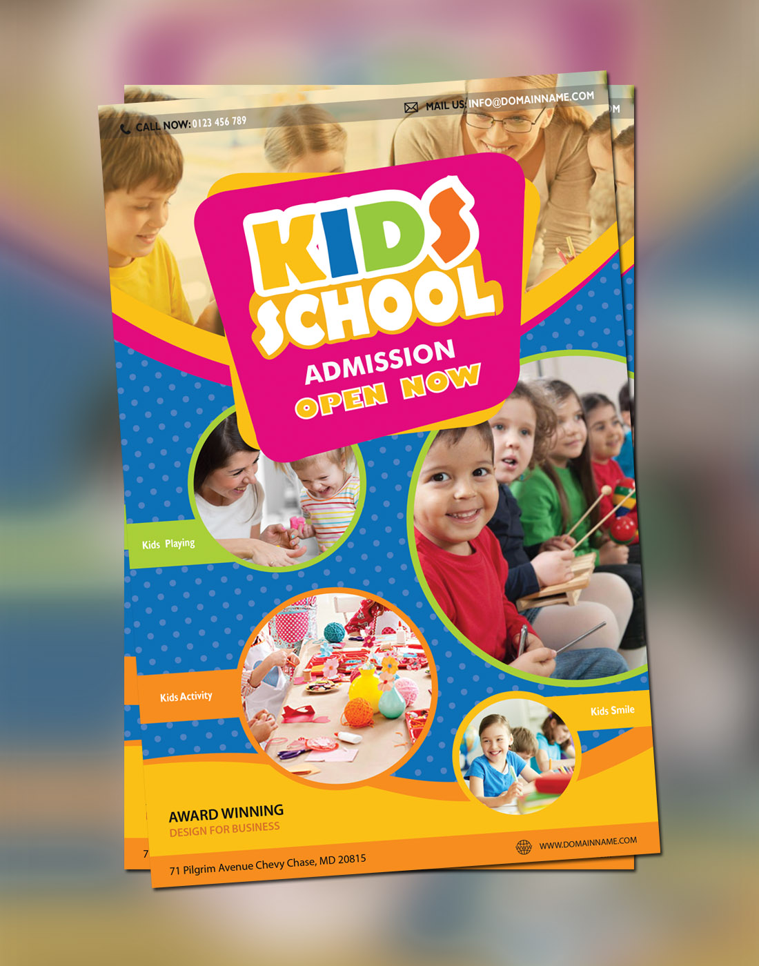 kids school brochure