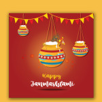 free janmashtami vector download