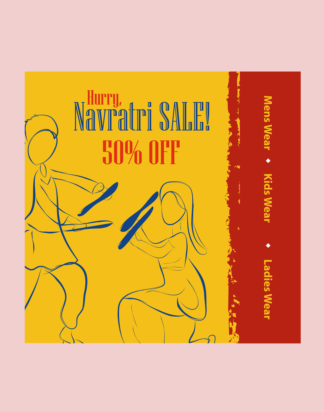 navratri sale template
