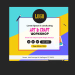 Art craft work shop psd template