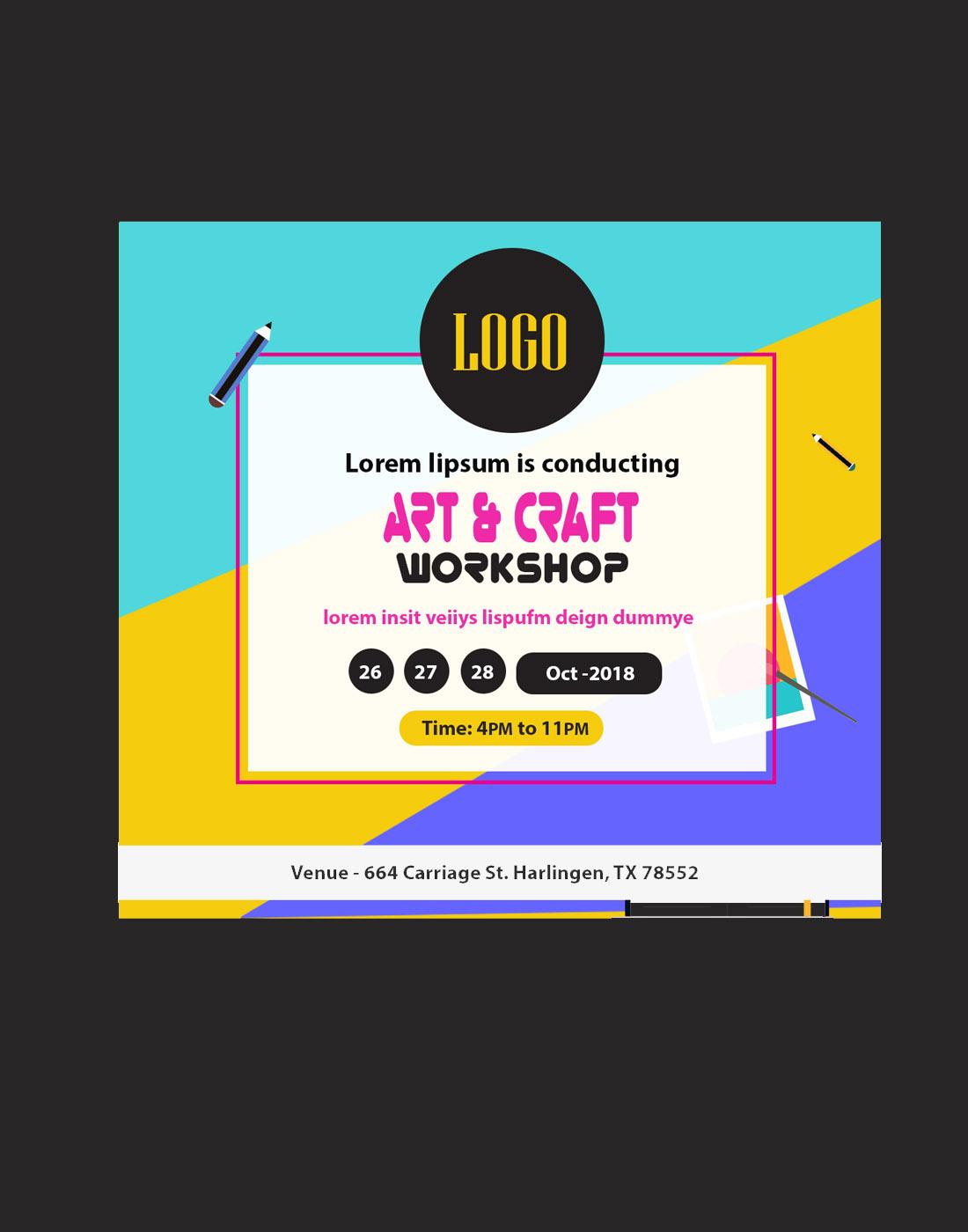 art&craft_workshop psd template