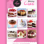 cake flyer psd template