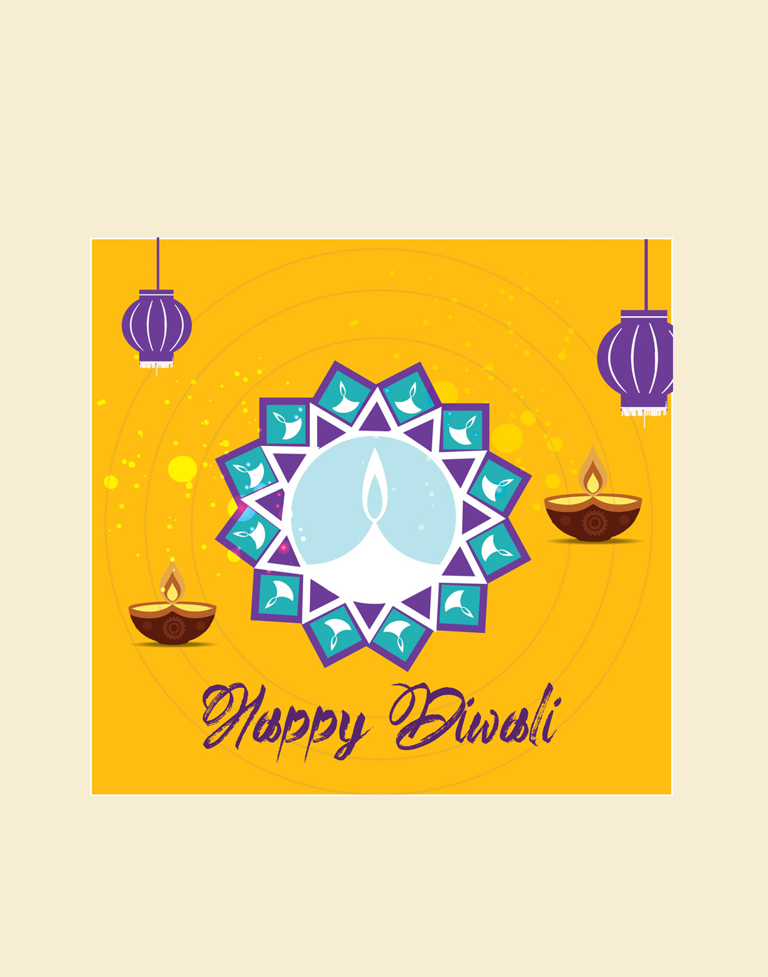 diwali psd or vector template