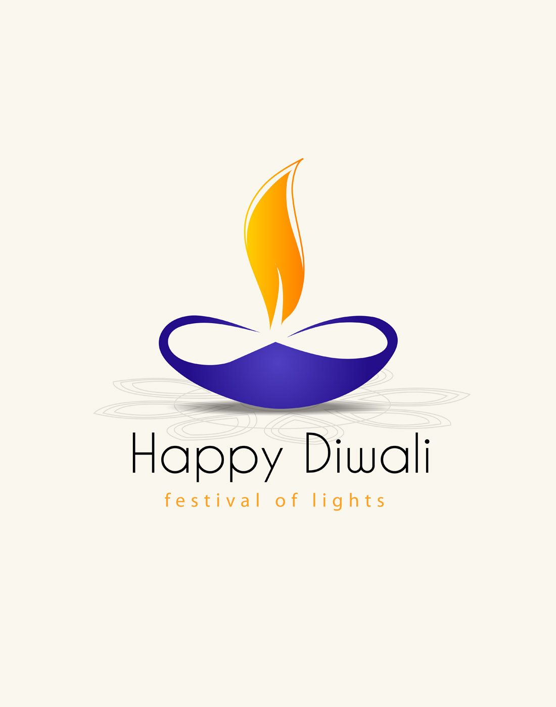diwali vector lamp template