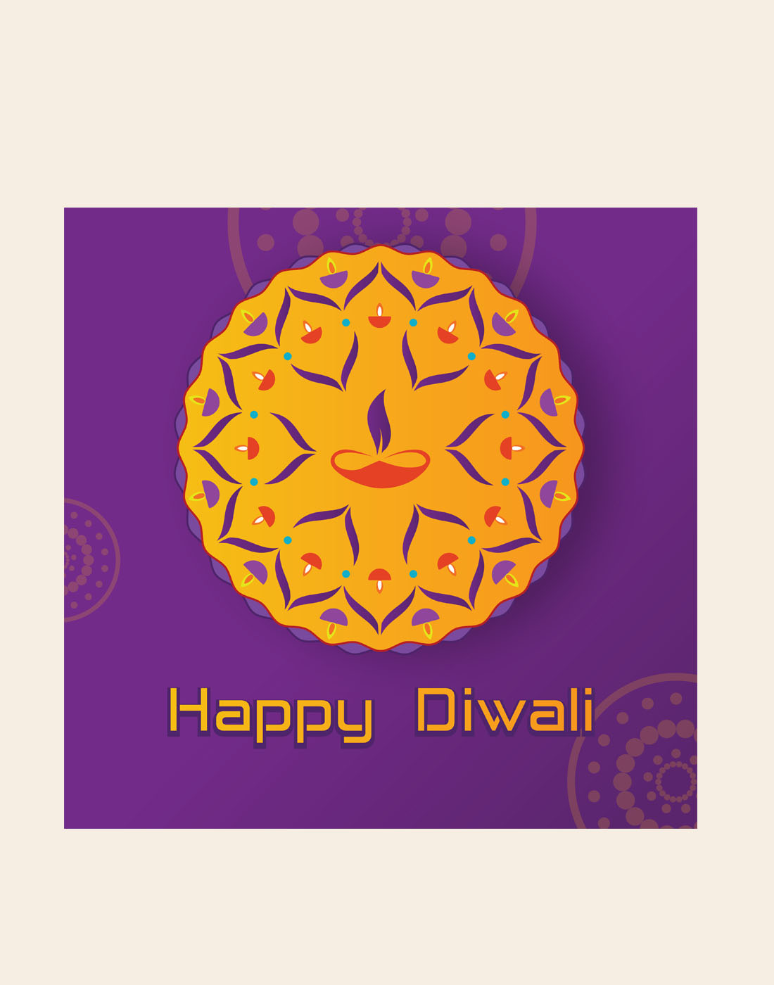 diwali vector template