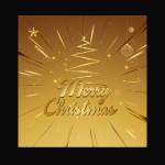 Golden Christmas vector template