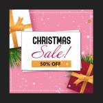 Christmas sale PSD template