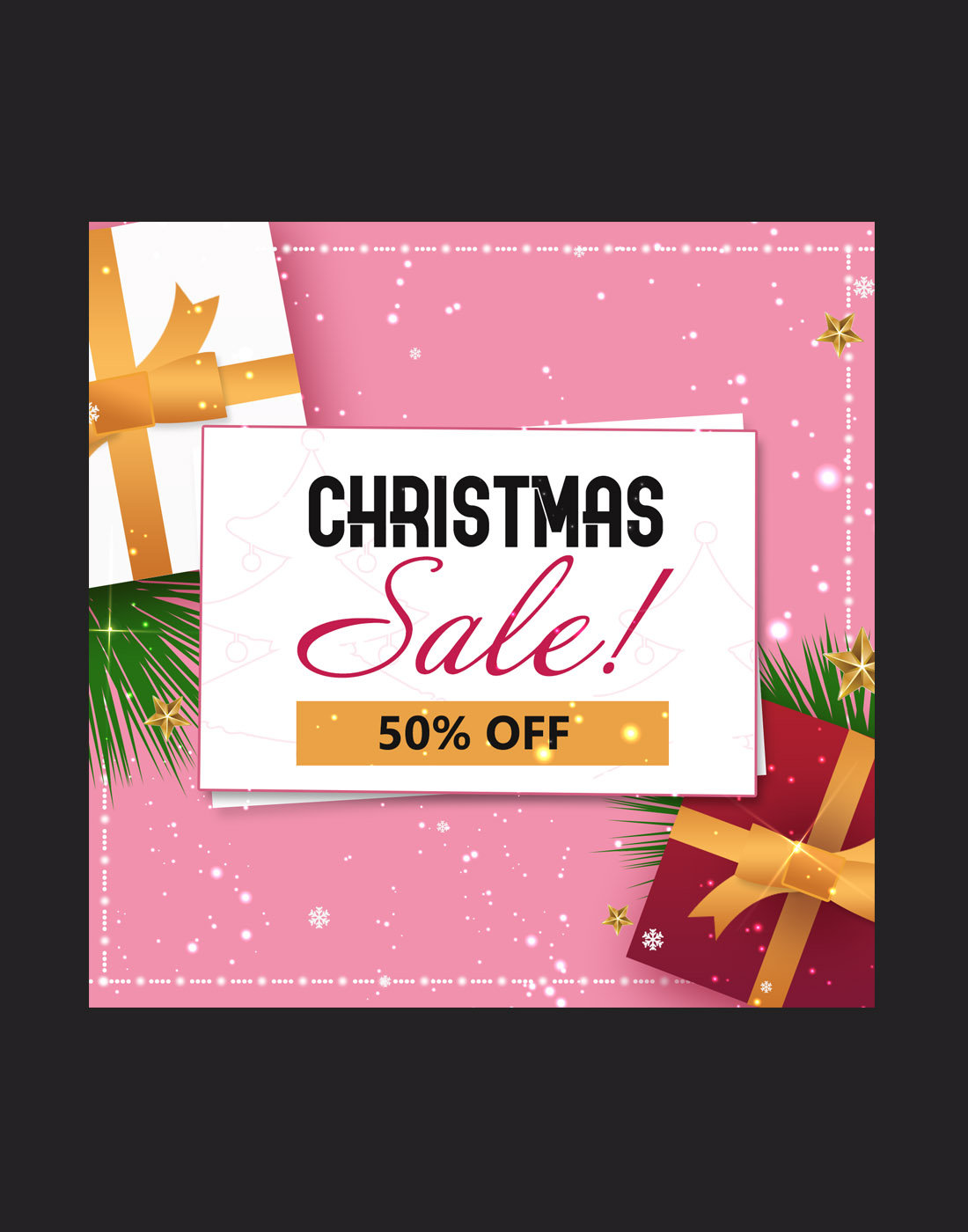christmas sale PSD template