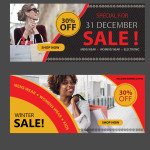 website Sale banners template