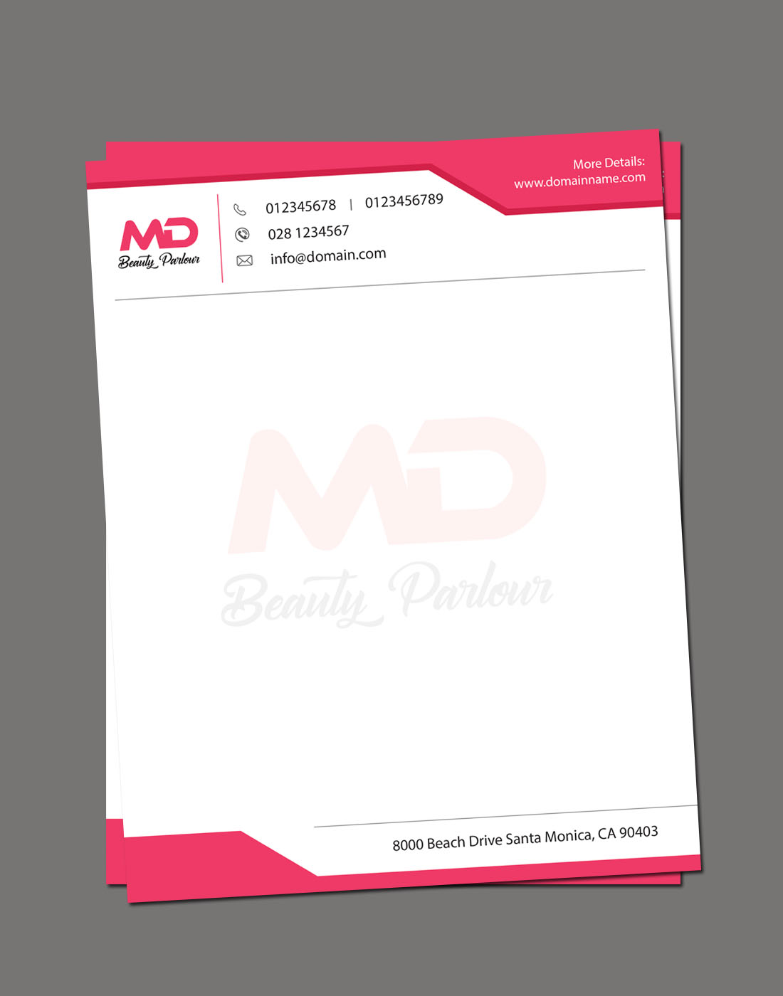 beauty-parlour-letterhead