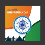 free republic day vector template