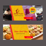sweets and namkeens psd banners