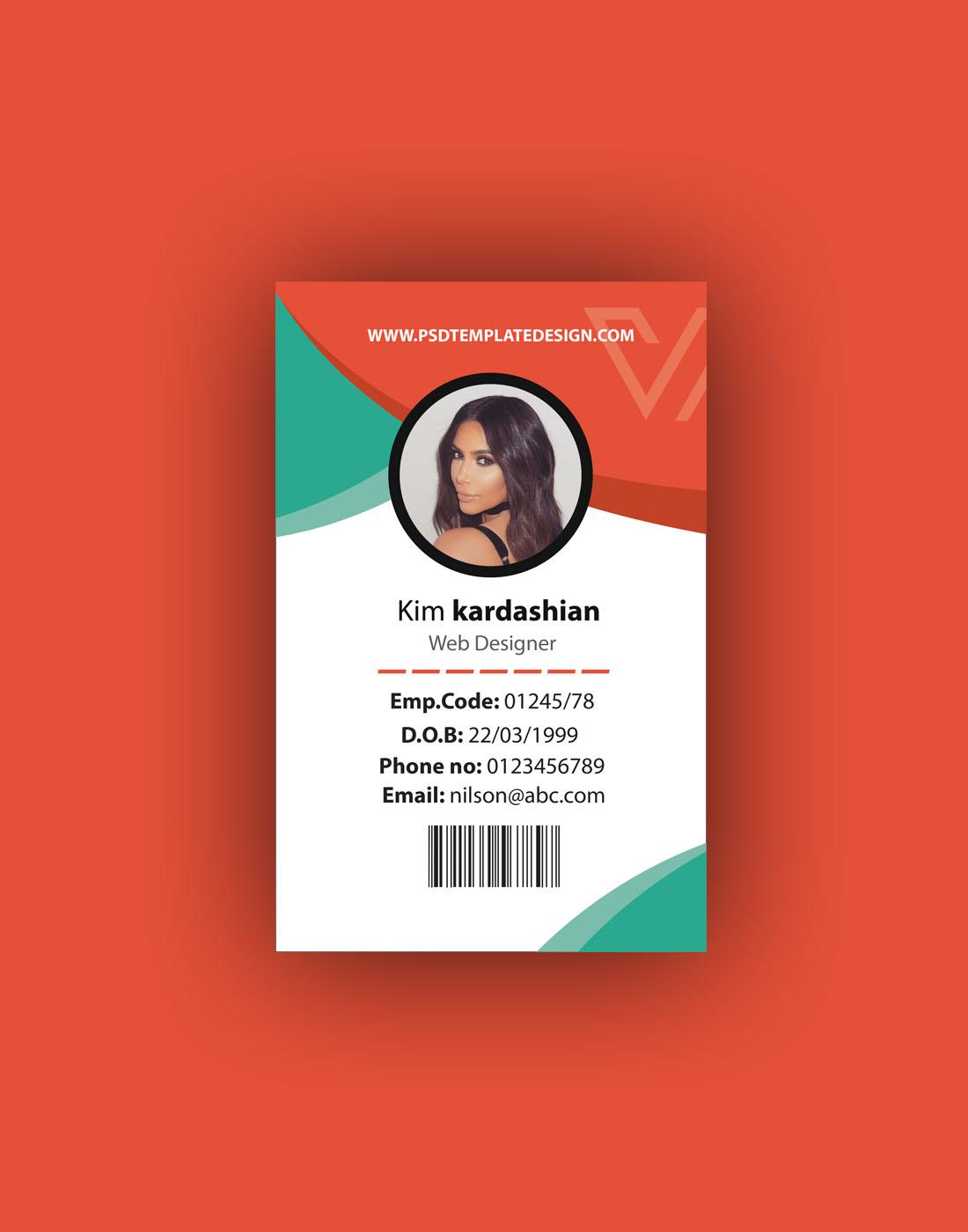 id card psd