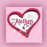pink mothers day vector