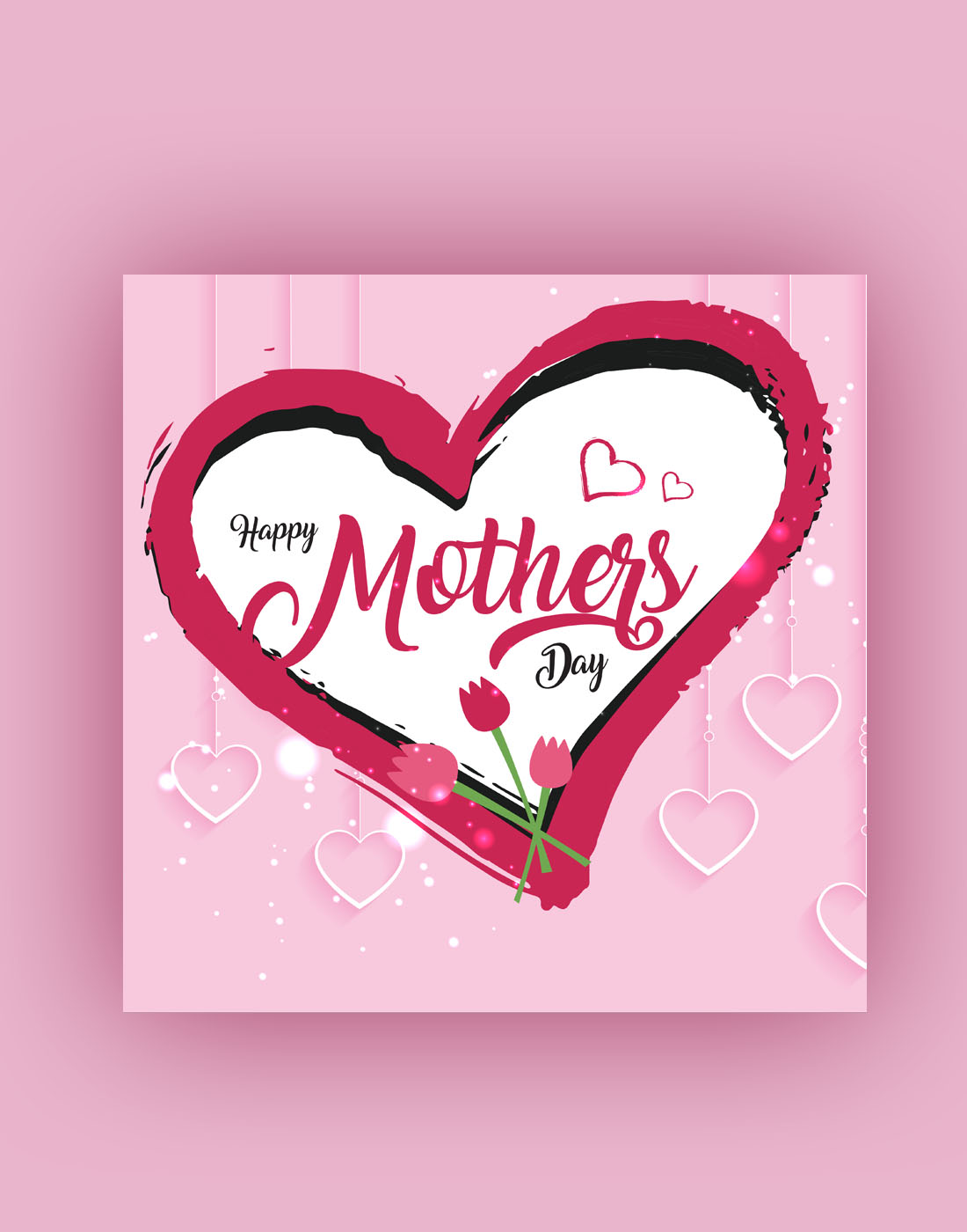pink mothers day template