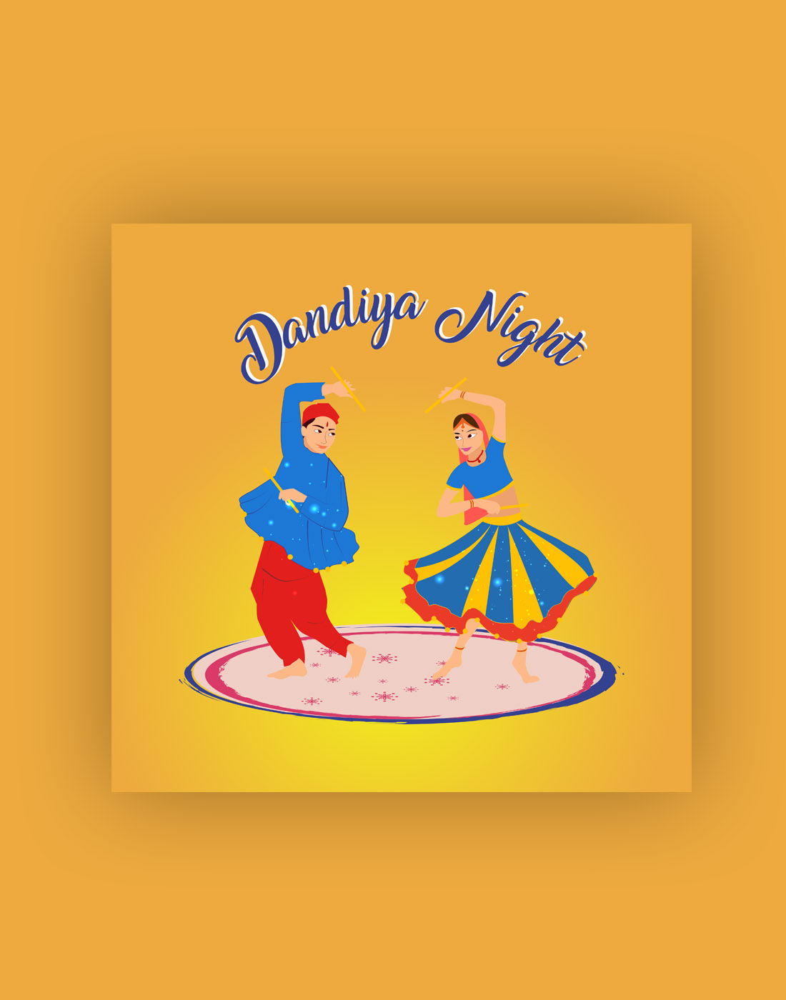 navratri couple template