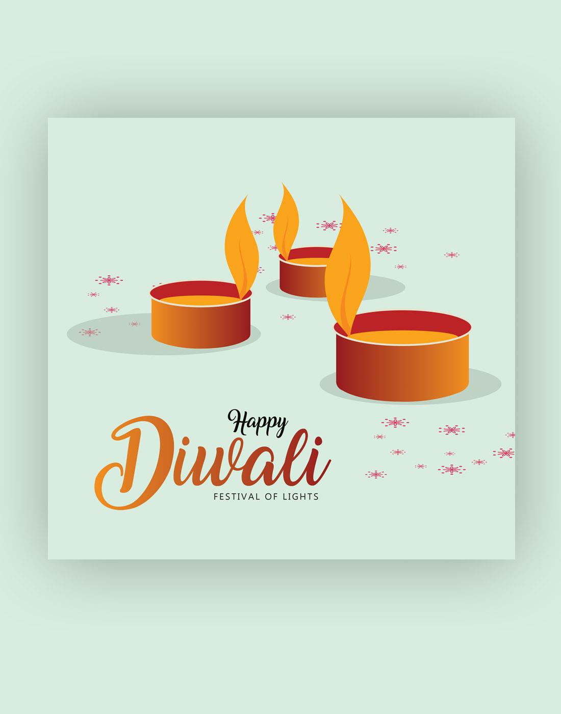 diwali free vector