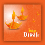 Diwali lamp vector download