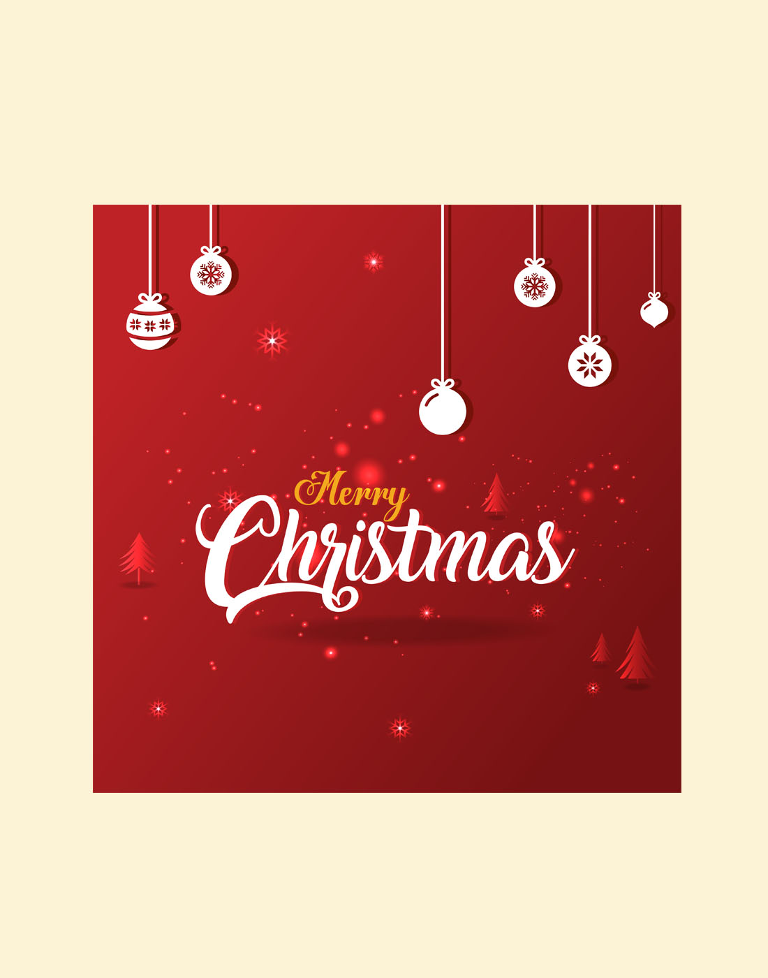 free christmas psd template
