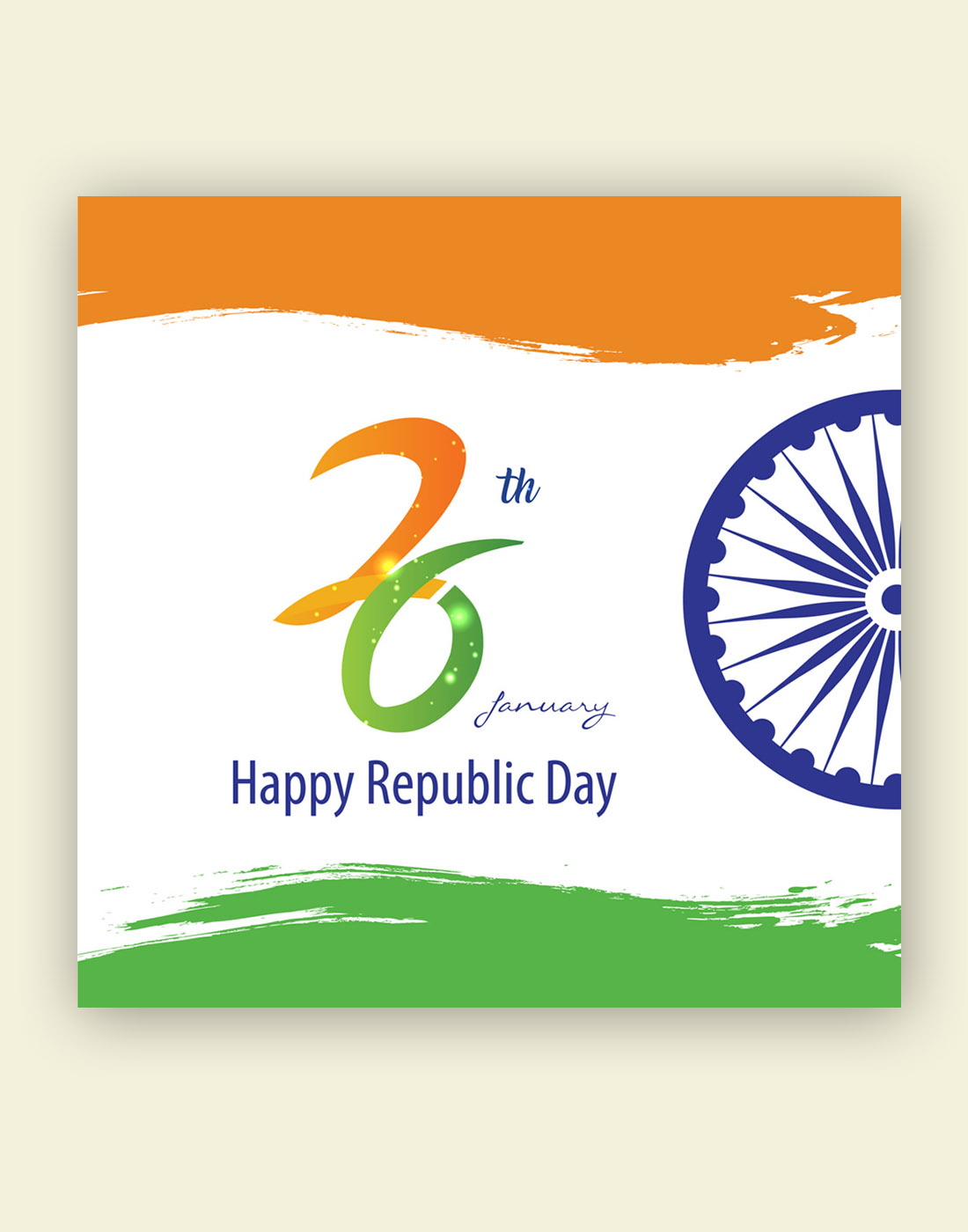 indian 26 january republic day vector