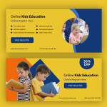 Free Kids Education Banners