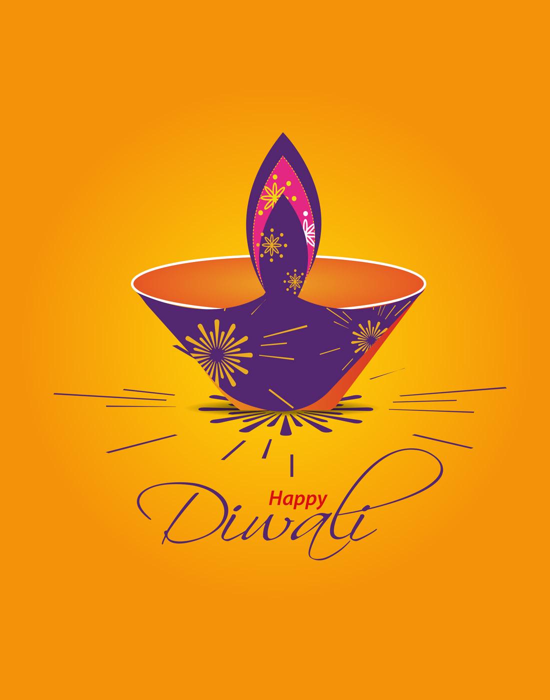 free_diwali_vector_template