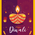 Diwali vector template download