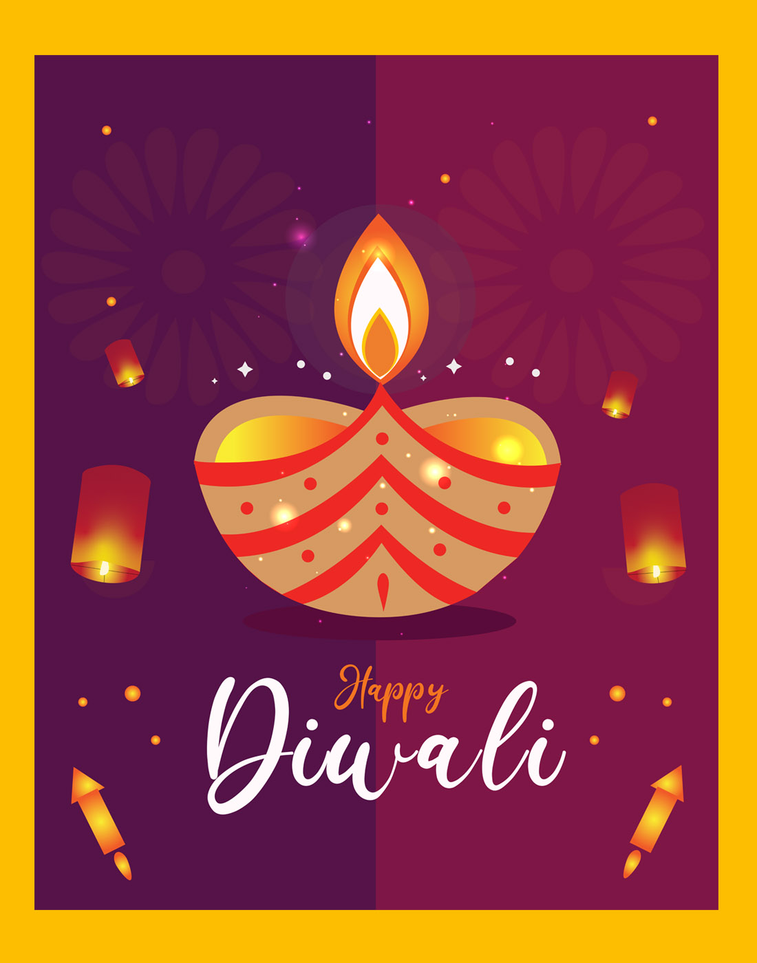 happy diwali vector free download