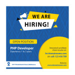 free we are hiring vector template